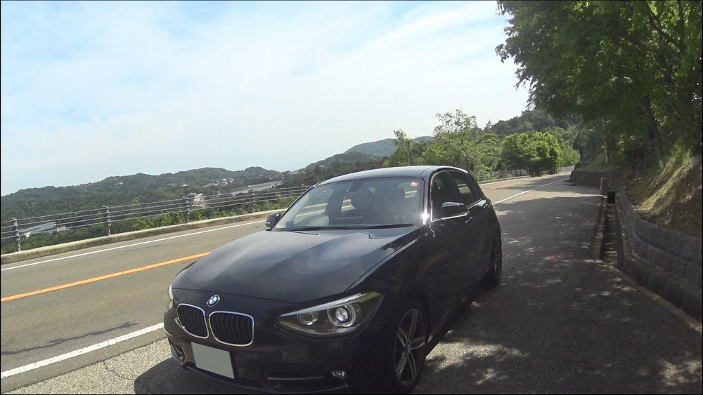 BMW 1シリーズ 斜め左から撮影