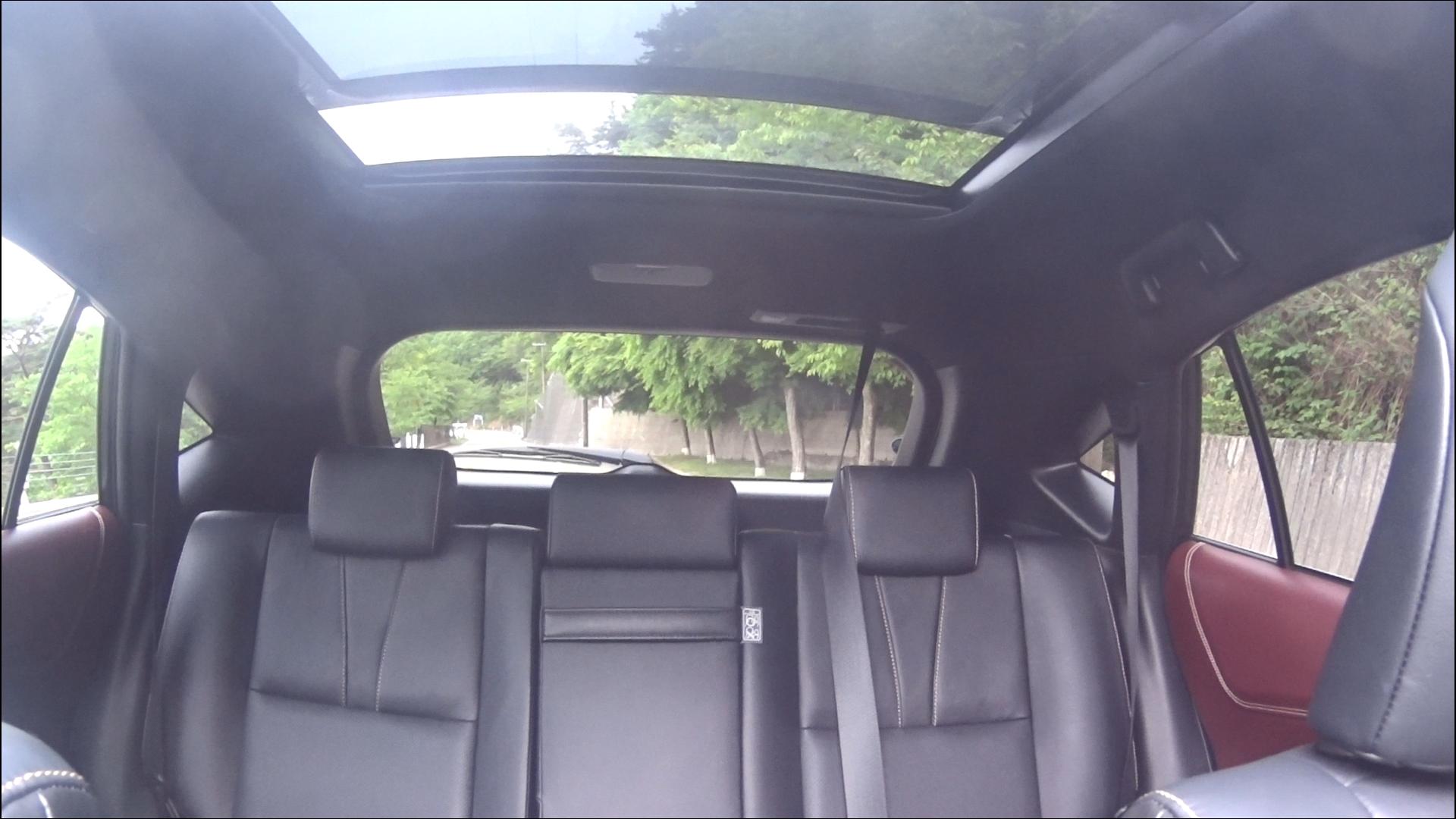 ハリアー前席から後部座席への眺め