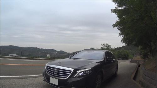 S400h 芦有ドライブウェイでの試乗中に撮影