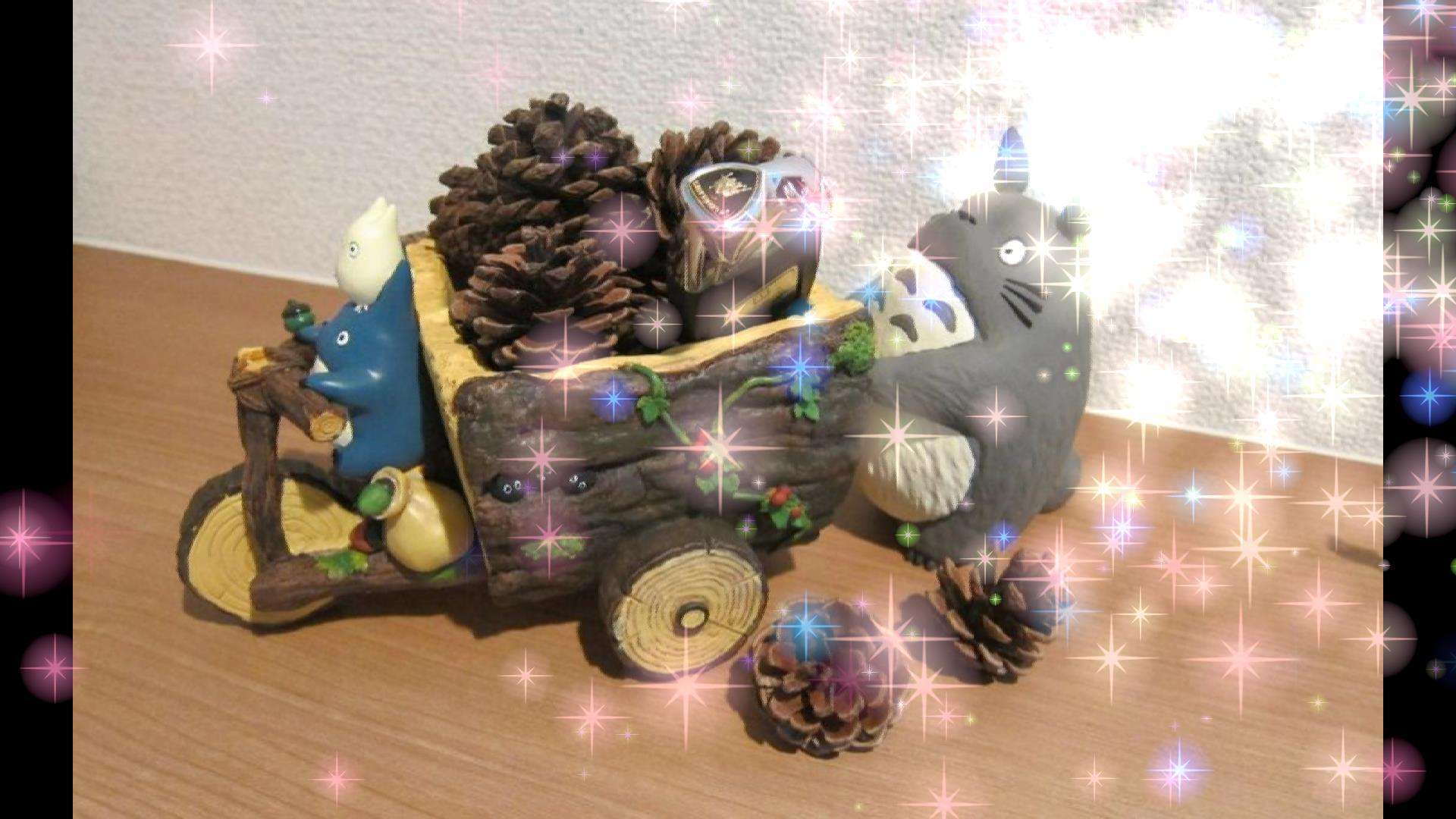 トトロとウラカンの鍵(キラキラ付き)
