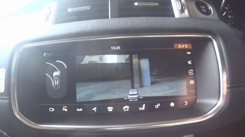 イヴォーク コンバーチブルのカメラ映像